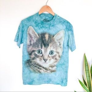 The Mountain Tie Die Cat T-shirt